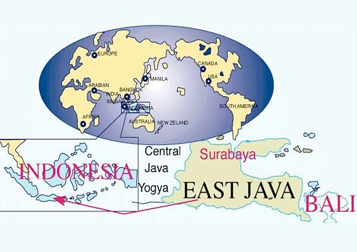 map of java. Map of East Java - Peta Jawa