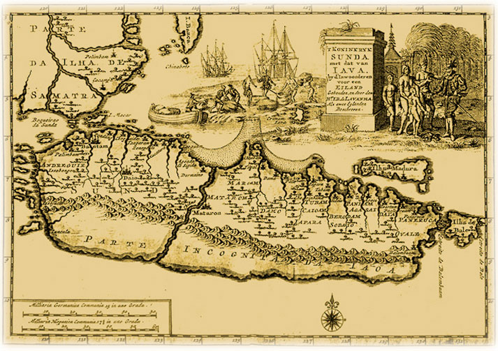Java Island Map In Past Image - From 17th Century