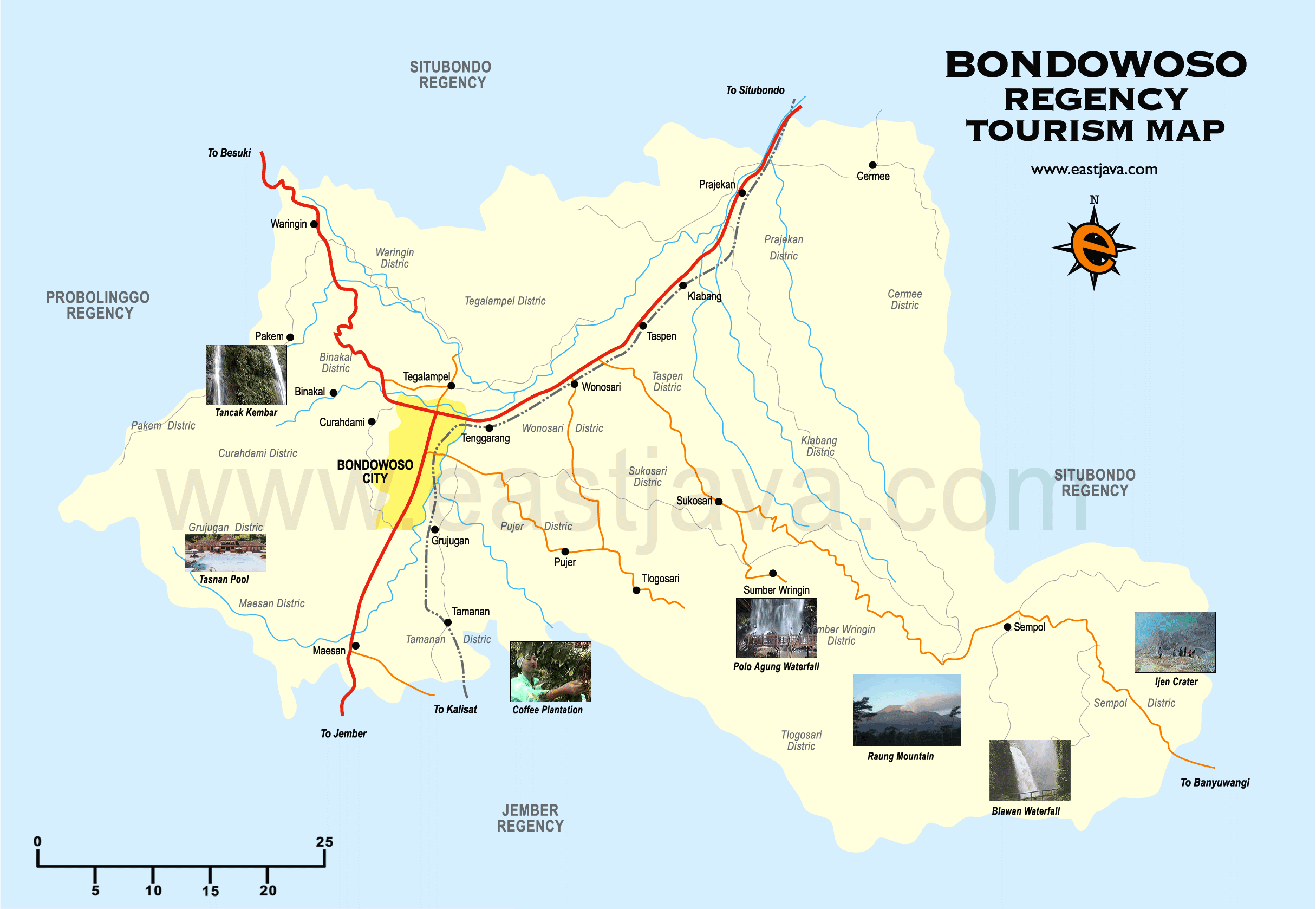 Bondowoso Map Peta Bondowoso Peta Kabupaten Bondowoso