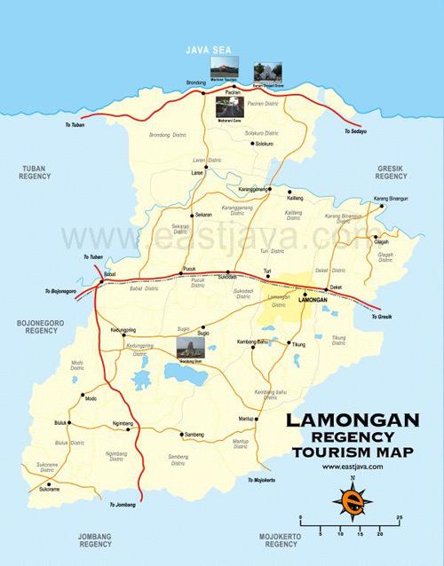 lamongan map