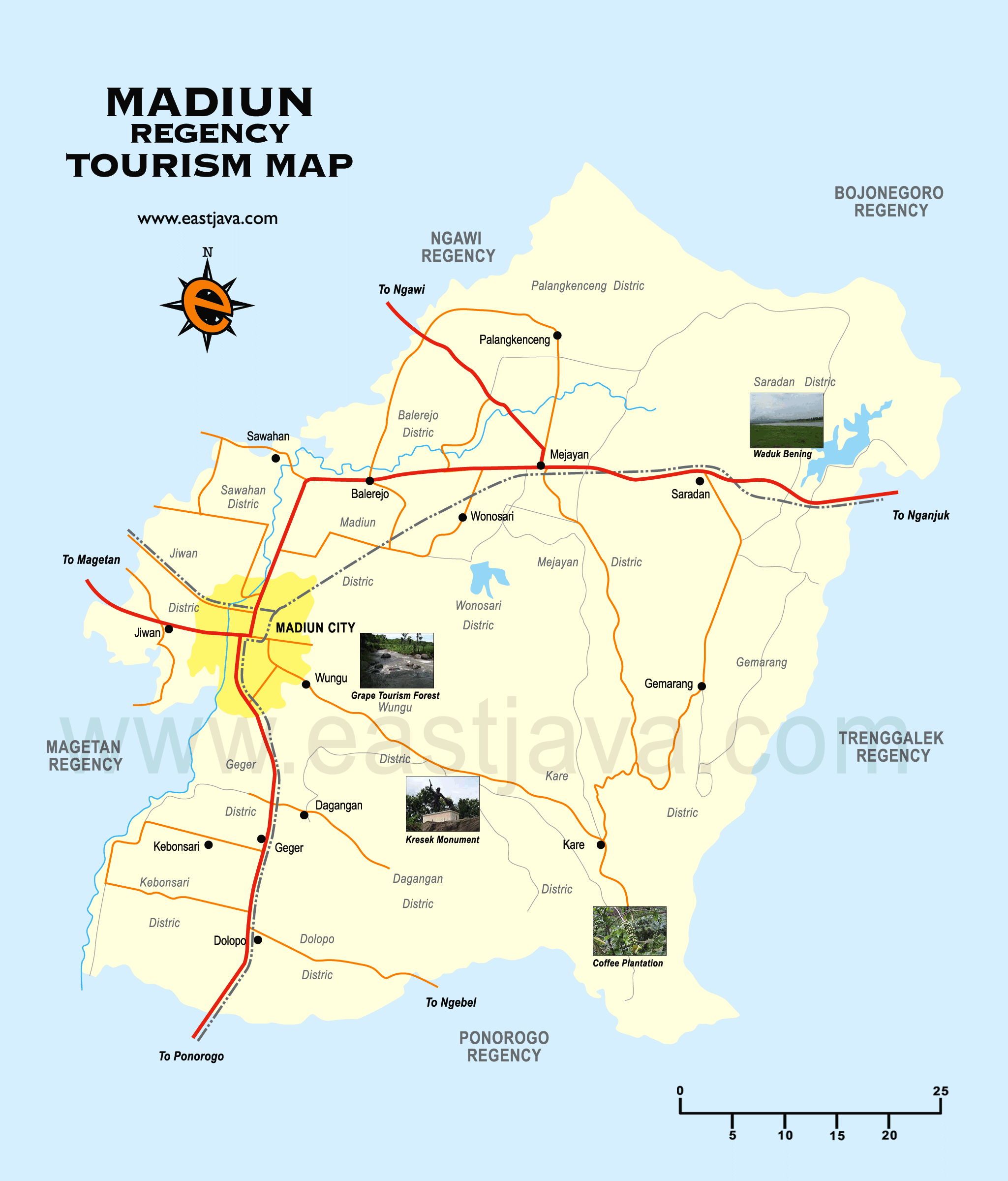 Madiun Indonesia  city pictures gallery : Map of Madiun Indonesia