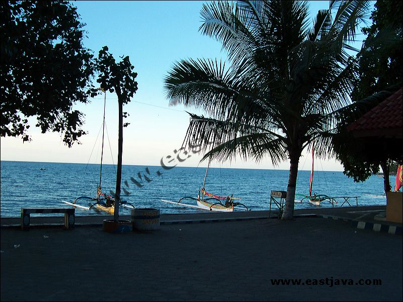 pasir putih beach is a maritime and nature tourism object