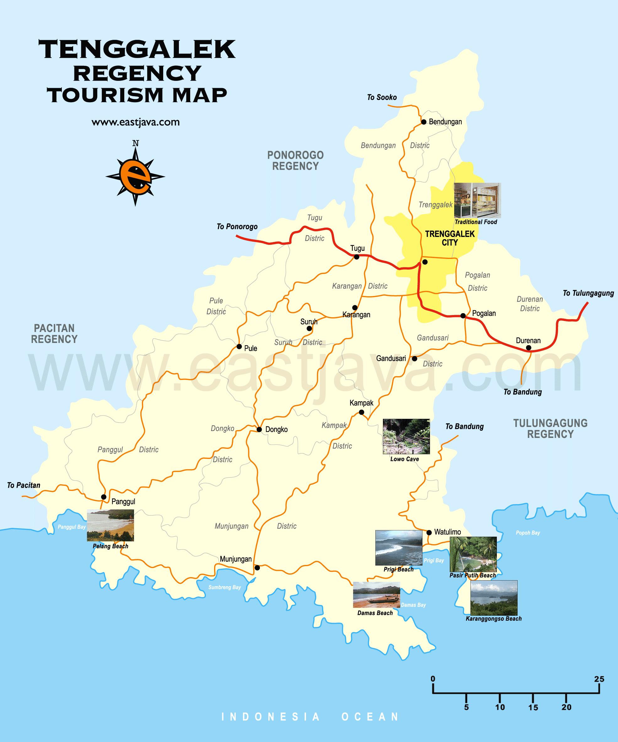 Trenggalek Map - Peta Trenggalek - Peta Kabupaten Trenggalek